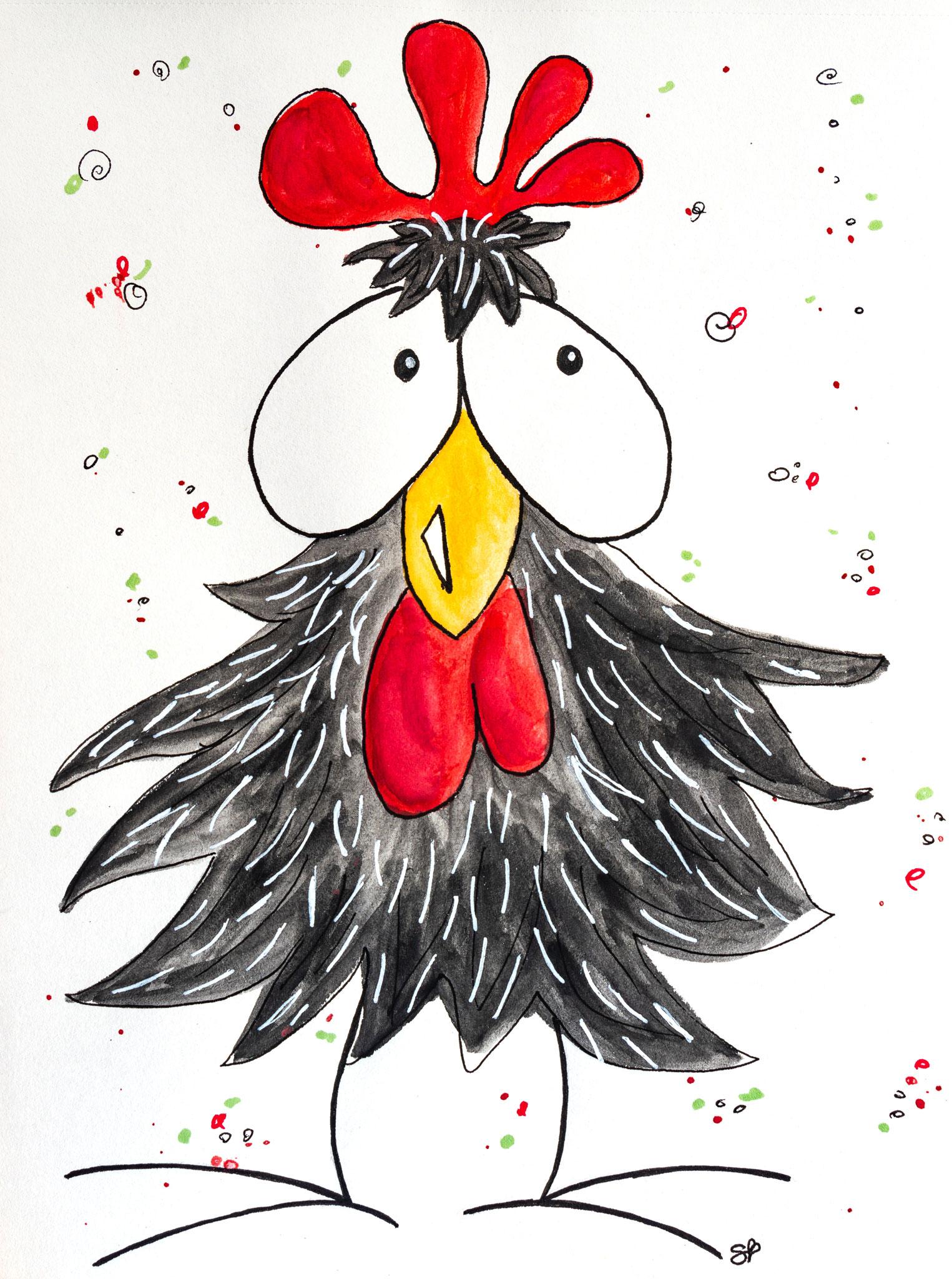 Huhu, ein Huhn