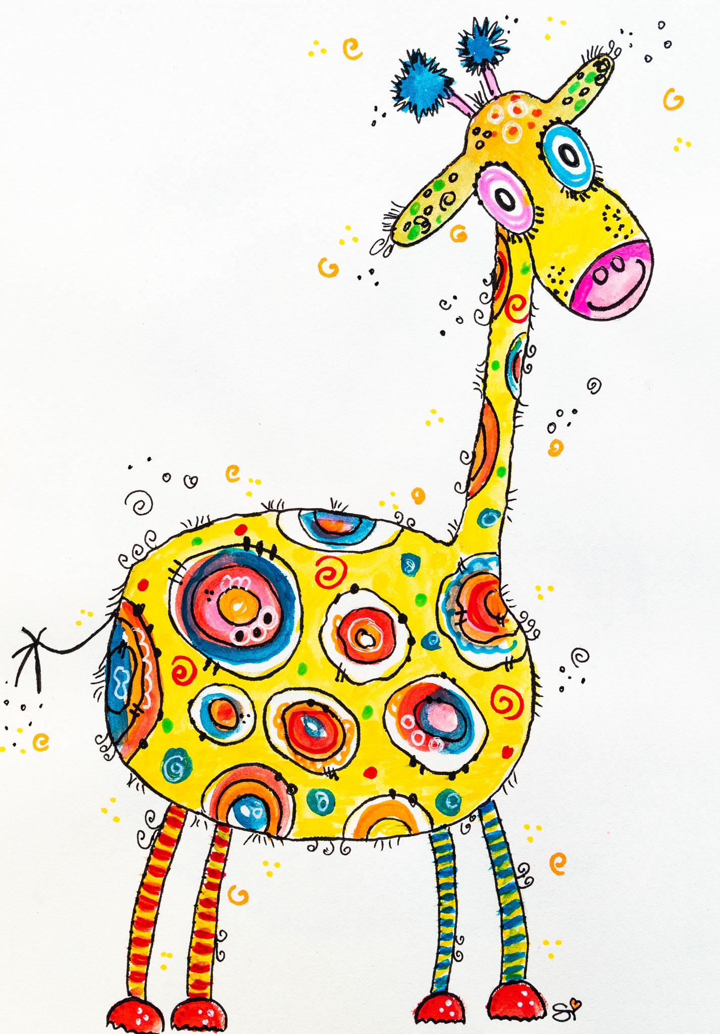 Verrückte Giraffe