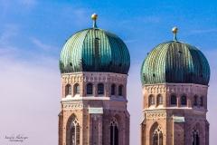 Zwiebeltürme des Liebfrauendoms in München